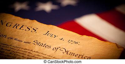 美國旗, 背景, 宣告, 獨立