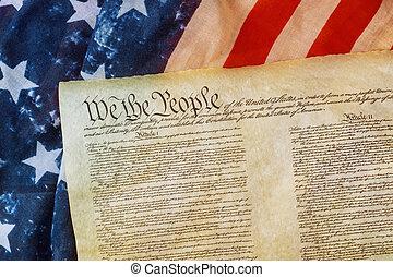 美國票據, 權力, 旗, 人物面部影像逼真, 我們, 人們, grunge