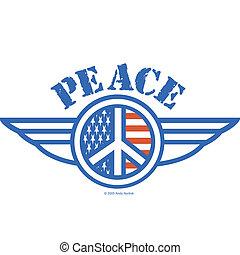 美國符號, 和平, 旗, 簽署