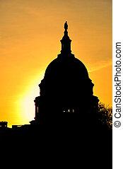 美國美國國會大廈, 美國, 日出