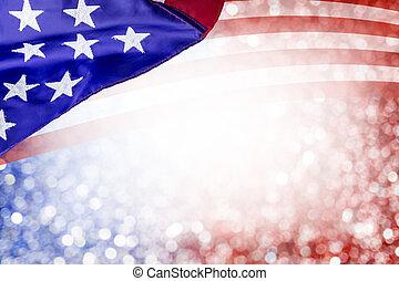 美國, 七月, 獨立, bokeh, 設計, 其他, 背景, 天, 4, 摘要, 旗, 慶祝