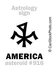 美國, astrology:, 小行星