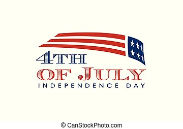 美國, day., 旗, 7月4 日, 獨立