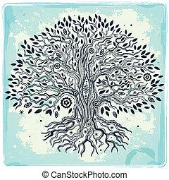 美麗的生活, 葡萄酒, 樹, 手, 畫