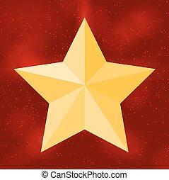 美麗, 星, sky., 矢量, 背景, 黑色半面畫像, illus