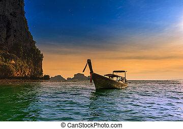 美麗, 風景。, 海, touristic, 自然, 熱帶, 費用, 背景, 泰國
