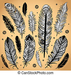 羽毛, 時裝, 插圖, 种族