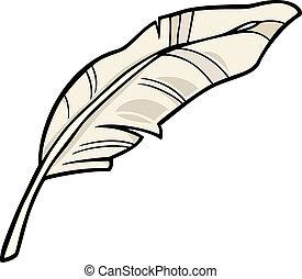 羽毛, 藝術, 卡通, 插圖, 夾子