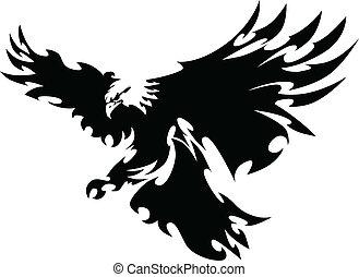 翅膀, 鷹, 吉祥人, 設計, 飛行