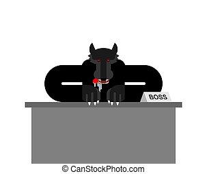 老板, businessman., 矢量, isolated., 狼, 插圖, 食肉動物