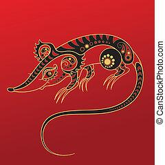 老鼠, 漢語, horoscope., 年