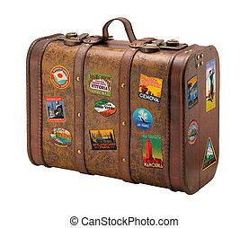 老, 旅行, 自由, 小提箱, royaly, 屠夫