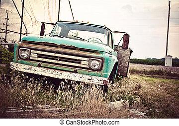 老, 汽車, 路線, 我們, 生鏽, 具有歷史意義, 66, 向前