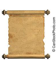 老, 紙卷, 羊皮紙