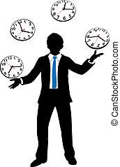 耍弄, 忙, 事務, 鐘, 人, 時間