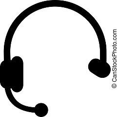 耳機, 圖象, callcenter
