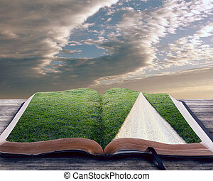 聖經, 打開, 路