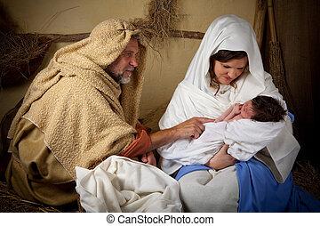 聖誕節, 家庭, reenactment