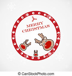 聖誕節, 有趣, 插圖, 鹿