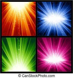 聖誕節, 爆炸, 喜慶, 星, 光, 年, 新
