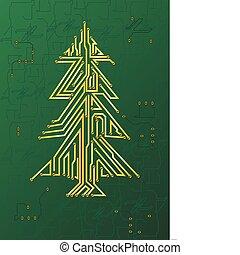 聖誕節, 電路, 樹