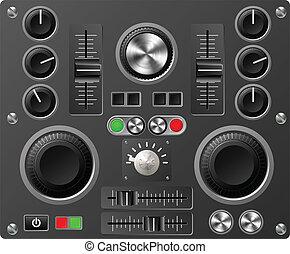 聲音, 工作室, 板, 控制, 或者