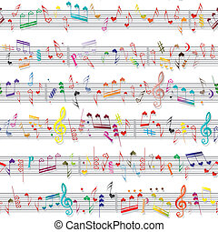聲音, 心, 愛, 結構, 筆記, 音樂