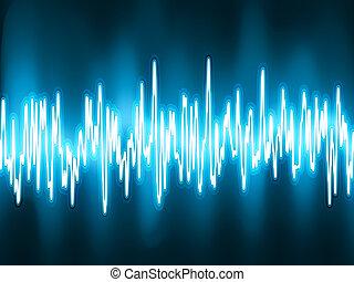 聲音, 振蕩, light., eps, 波浪, 8, 發光