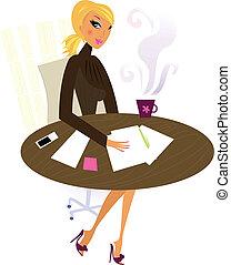 職業婦女, 工作, 辦公室