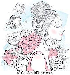 肖像, 美麗的婦女