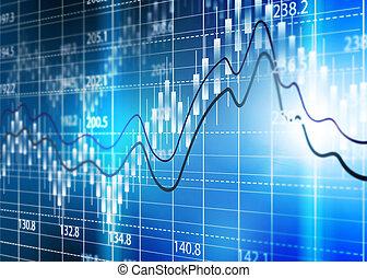 股票, 分析, 事務, 圖表, 交換, diagram.