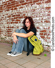 背包, 青少年, 街道