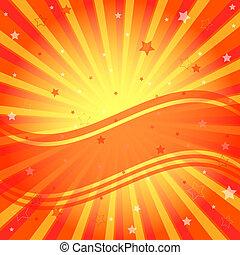 背景, 光線, 摘要, 生動, 橙