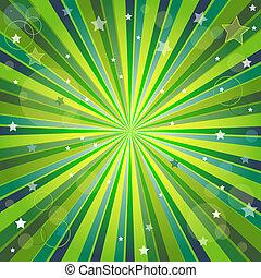 背景, 光線, 摘要, 綠色, 黃色