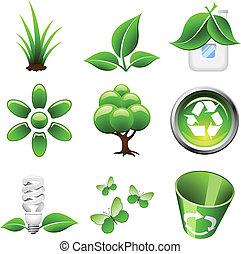 背景。, 圖象, 被隔离, 環境, 綠色白色