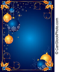 背景, 圣誕節卡片, 或者