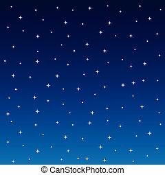 背景, 天空, 不滿星星的, 廣場, 夜晚