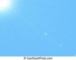背景, &, 天空, 太陽