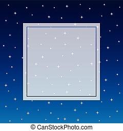 背景, 天空, 旗幟, 不滿星星的, 夜晚