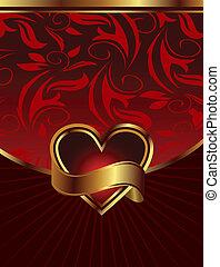 背景, 情人是, 包裝, 設計, 聖徒, 天