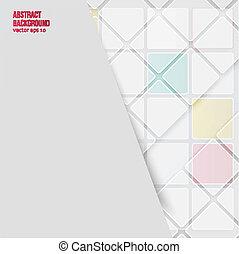 背景。, 摘要, 矢量, 正方形, 白色