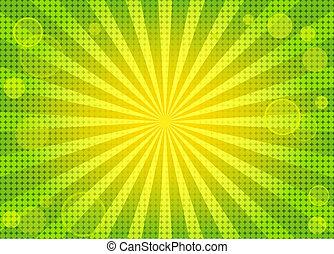 背景, 摘要, 綠色, 明亮, w