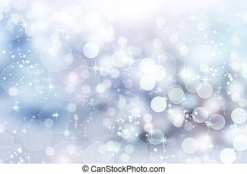 背景。, 摘要, bokeh, 聖誕節, 冬天