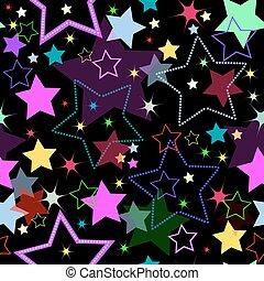 背景, 星, (vector), seamless
