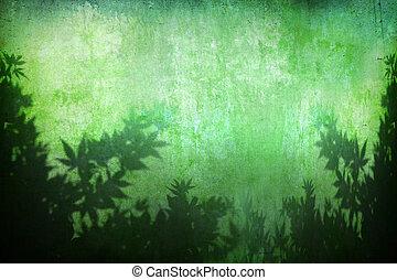 背景, 植物, grunge, 摘要, 綠松石