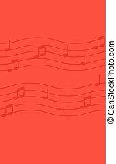 背景。, 注釋, 音樂, 紅色