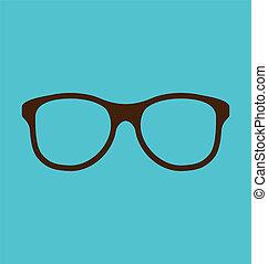 背景, 眼鏡, 圖象, 被隔离, 藍色, 葡萄酒