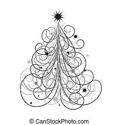 背景, 矢量, 樹, 聖誕節
