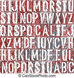 背景, 老, 矢量, 類型, letterpress