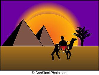 背景, 金字塔